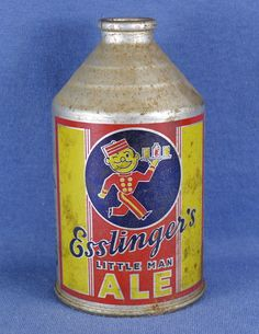 1920s Esslinger's Little Man Cone Top Ale Can | eBay///FOR THE RECORD, we all know that Prohibition ended in 1933, therefore beer cans did not exist before 1933 in the USA! Regardless, a very nice can.