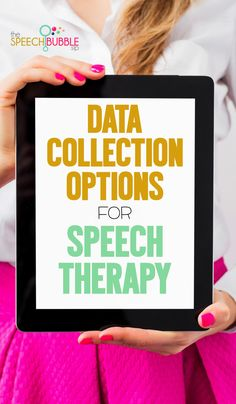 Data Collection Options for Speech Therapy - The Speech Bubble. Pinned by SOS Inc Resources at www.pinterest.com/sostherapy/