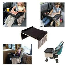 Kids Travel Play, Drawing and Snack Tray For Car or Stroller