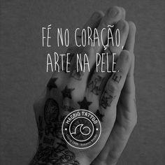 Fé no coração, arte na pele.  #TintaNaPele #ExpresseSuaIdeia