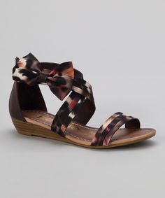 Take a look at this kensiegirl Brown Leopard Crisscross Bow Sandal on zulily today!