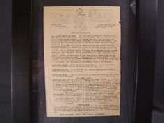 WWII ROYAL ULSTER RIFLES Surrender document in frame, £150