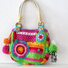 Crazy rainbow bag.  Like the handles too.