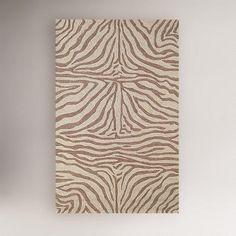 Ravella Zebra Indoor-Outdoor Rug, Brown