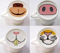 Noses for the bottom of coffee cups