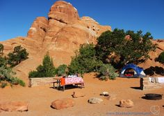 51 Cent Adventures: Arches National Park - Devil's Garden Campground.  This is a great place to stay if you want to avoid some of the parking nightmares that can happen in the park.