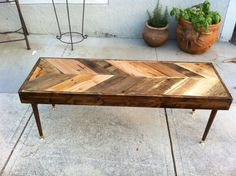 Reclaimed pallet coffee table.