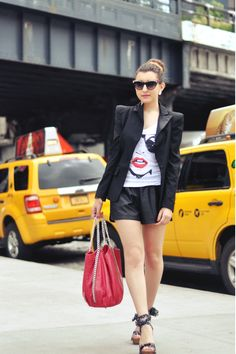 "Sabrina Musco wears ""Glass"" T-shirt http://www.freakyfridayblog.com/2013/06/new-york-2.html"
