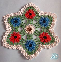 Doting on Doilies: Gerbera Doily