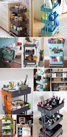 'Ideas for Using the $30 IKEA Raskog Cart...!' (via Apartment Therapy)