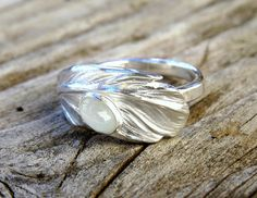 Feather Ring Sterling Silver Ring Wing Ring Angel Ring