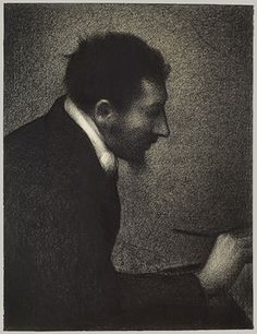 Seurat's study of his friend the artist Aman-Jean (1860–1936) is one of the great portrait drawings of the nineteenth century.