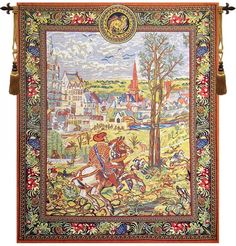 Vieux Brussels Left Side Belgian Wall Tapestry