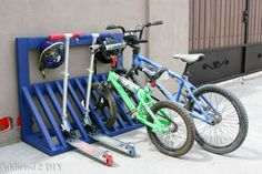 Ana White | Simple Bicycle Rack - Featuring Addicted 2 DIY - DIY Projects