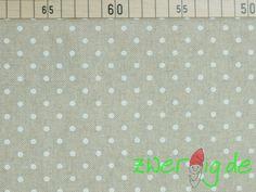 Stoff Punkte - Dekostoff mit weißen Punkten - Weihnachtsstoff - ein…
