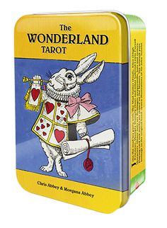 Wonderland Tarot in Tin Box by Chris Abbey & Morgana Abbey. Join the mad tea party with the beloved characters of Lewis Carroll in The Wonderland Tarot, including The Mad Hatter, Alice, Humpty Dumpty, the White Rabbit and all the others! Tarot Decks, Alice Book, Fortune Telling Cards, Rider Waite Tarot, Aleister Crowley, Tarot Readers, Adventures In Wonderland, Lewis Carroll, Oracle Cards