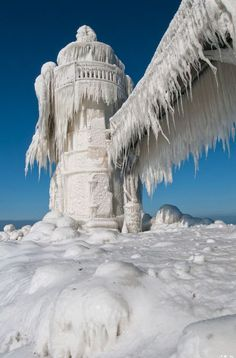 St. Joseph's Lighthouse, Michigan. Been there when it looked like this!