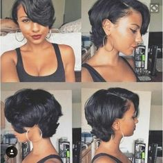 """Who want to see the most beautiful bob hairstyles for black women? If you say """"yes"""", here are the latest bob hairstyles ideas for black ladies with curly or Love Hair, Great Hair, Gorgeous Hair, Awesome Hair, Beautiful Body, Curly Hair Styles, Natural Hair Styles, Bob Hairstyles, Braided Hairstyles"""