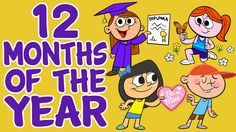 Months of the Year Song - 12 Months of the Year - Kids Songs by The Learning Station Math Songs, Kindergarten Songs, Preschool Music, Preschool Learning, Kids Songs, Fun Learning, Phonics Song, Calendar Songs, Calendar Time