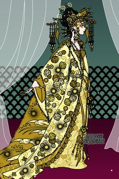 Curse of the golden flower by Pearlsdiner ~ Inkscribble Dress Up