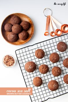 Cocoa Sea Salt Brown Butter Cookies (Inspired by the Brown Butter Cookie Company) | thesassylife