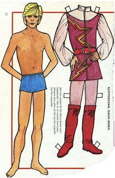 David Bowie Paper Doll | Flickr - Photo Sharing!