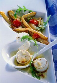 Salat von gebratenem Spargel