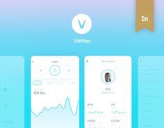 """다음 @Behance 프로젝트 확인: """"VitPilot (Mobile App)"""" https://www.behance.net/gallery/42058853/VitPilot-(Mobile-App)"""