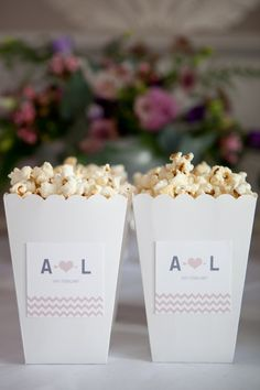 Personalized popcorn box - a super cute detail for fans of the big-screen