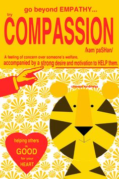 try compassion ART print by Giraffes and Robots .com