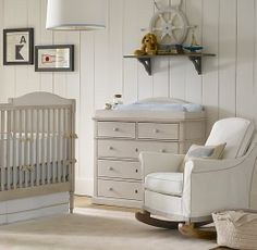 Roll Arm Rocker With Slipcover | Nursery Seating | Restoration Hardware Baby & Child