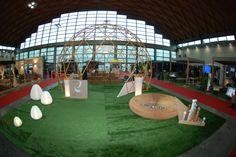 #Cupola geodetica stand #LerianSrl, struttura in acciaio stampato legno