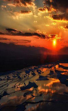 ✯ Sunset in Pamukkale, Turkey