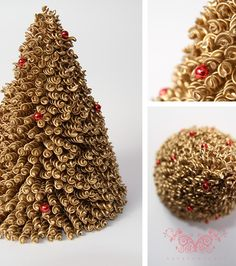 If you are looking for some fun Christmas crafts for kids, then have a look at these adorable Christmas tree ornaments made with pasta.Christmas crafts for. How To Make Christmas Tree, Handmade Christmas Decorations, Christmas Crafts For Kids, Homemade Christmas, Christmas Projects, Simple Christmas, Christmas Tree Ornaments, Holiday Crafts, Christmas Diy