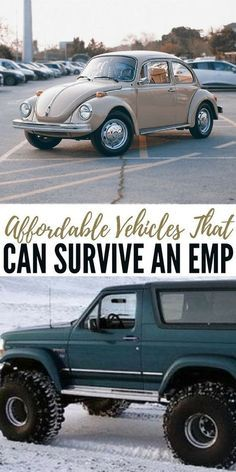 Affordable Vehicles That Can Survive an EMP - What really blew me away was the fact that this articles features exact models and makes as well as estimated values for those vehicles. You will come away from this article with some answers to the overwhelming power of an EMP attack. Just having access to a vehicle give you a leg up on those around you. As long as you don't get killed for it. #emp #shtf #survival #preparedness #prepper