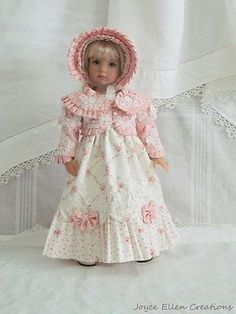 13-Effner-Little-Darling-BJD-fashion-Pink-Regency-style-OOAK-set-by-JEC. Ends 8/3/14. SOLD for $282.77