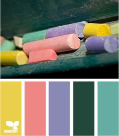 color chalked