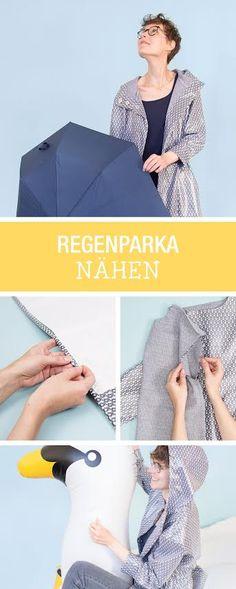 Kostenlose Nähanleitung mit Schnittmuster: Zusammen mit Lillestoff zeigen wir Dir, wie Du einen Regenmantel selber nähst / diy sewing tutorial and pattern: how to sew a rain coat via DaWanda.com