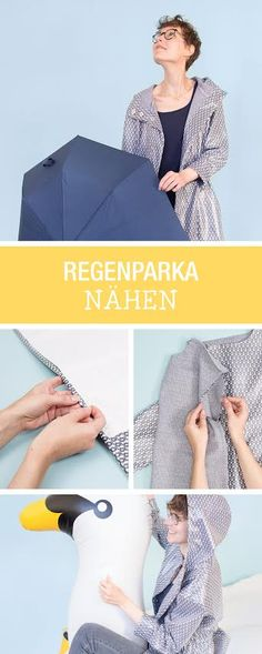 Kostenlose Nähanleitung mit Schnittmuster: Zusammen mit Lillestoff zeigen wir Dir, wie Du einen Regenmantel selber nähst / diy sewing tutorial and pattern: how to sew a rain coat via DaWanda.com
