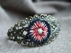 Bohemian Metal Bracelet Original jewellery by ContemporaryFeltArt