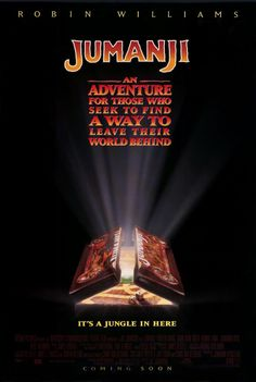 JUMANJI - 1995 - orig rolled 27x40 Movie Poster - ROBIN WILLIAMS - Style A - box