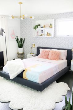 Laura's bedroom tour before + after