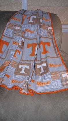 Tennessee Volunteer Fleece Blanket on Etsy, $35.00