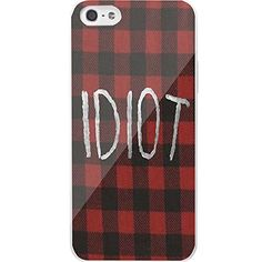 Idiot Flanel Michael Clifford 5 Second of Summer for Iphone and Samsung Galaxy (iPhone 5/5s white)