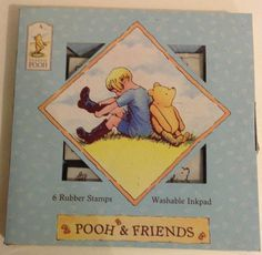 Winnie the Pooh Stamps Winnie the Pooh & Friends by BlueCatStamp, $14.00