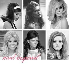 Mod inspired hair, 60's hair, fall fashion comeback.