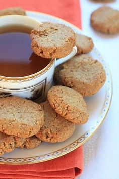 Lemony Walnut Cinnamon Cookies (vegan, gluten-free, refined sugar-free, allergy-friendly)