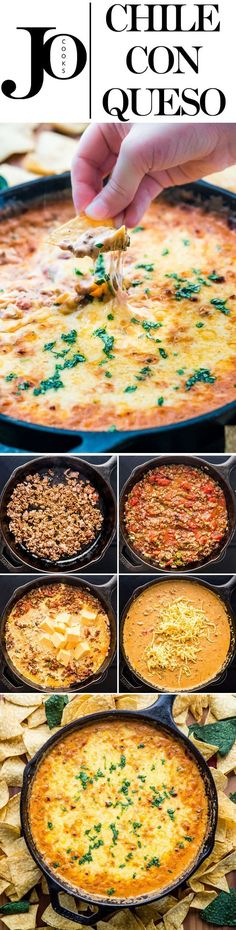 Best Comfort Foods This CHILE CON QUESO Food & Drink Healthy Snacks Nutrition Cocktail Recipes This CHILE CON QUESO is delicious spicy silky super cheesy and perfect for a crowd! It's the dip that you'll be asked for over and over again at all gatherings. Great Recipes, Favorite Recipes, Queso Recipe, Jo Cooks, Tailgate Food, Game Day Food, Football Food, Appetizer Recipes, Appetizers