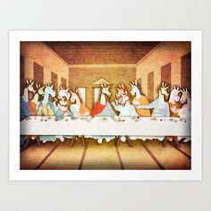 Last Supper Unicorn Art Print by That's So Unicorny - $14.99