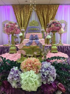 Stunning princess garden baby shower party! See more party ideas at CatchMyParty.com!